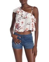 Roxy - Lynette One-shoulder Floral Blouse - Lyst