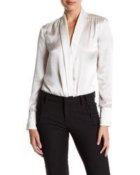 Lamarque - Ohara Silk Bodysuit - Lyst