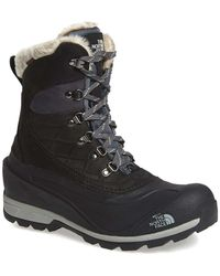 The North Face 'chilkat 400' Waterproof Primaloft(r) Insulated Boot - Black
