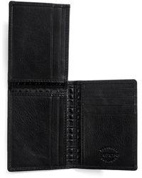 Boconi L Fold Leather Wallet - Black