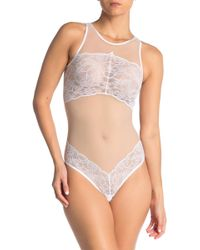 Cosabella Desert Glow Lace & Mesh Teddy - Natural