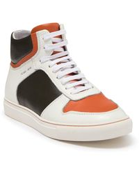 French Connection Bartelemy Colorblock Leather High Top Sneaker - White