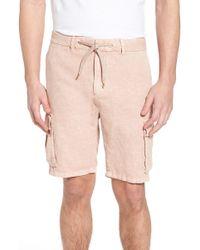 Scotch & Soda - Garment Dyed Linen Cargo Short - Lyst