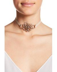 Jenny Packham - Pave Crystal Flower Choker Necklace - Lyst