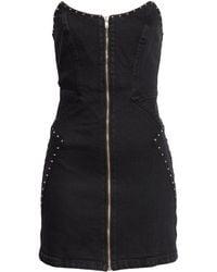 GRLFRND Brooke Strapless Denim Minidress - Black