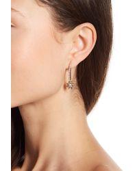 Marchesa - Crystal Linear Star Drop Earrings - Lyst