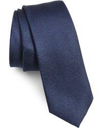 1901 Torres Solid Skinny Tie - Blue