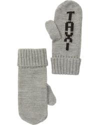 Kate Spade Taxi Knit Mittens - Gray