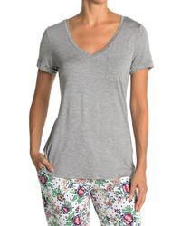 Jane And Bleecker V-neck Pajama Top - Gray