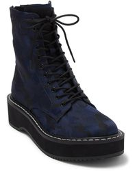 Kendall + Kylie Hunt Combat Boot - Blue
