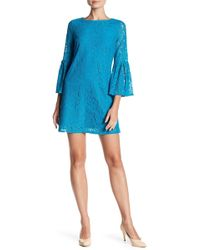 Laundry by Shelli Segal | Bell Sleeve Lace Dress | Lyst
