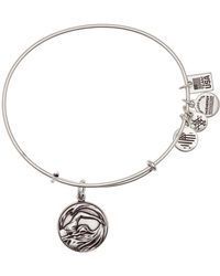 ALEX AND ANI - Team Usa Swimming Expandable Wire Charm Bracelet - Lyst