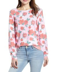 Wildfox Baggy Beach Sweater - Roses Pullover - Multicolour