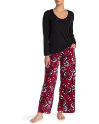 Hue Rose Drawstring Sleep Pants - Red