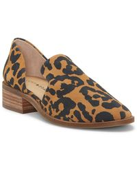 Lucky Brand Gennifa Cutout Stacked Heel Loafer - Natural