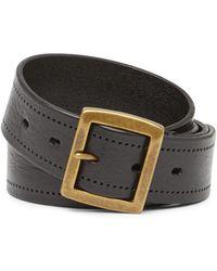 John Varvatos - Perforated Leather Buckle Belt - Lyst
