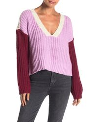 Wildfox - Beverly Colorblock Knit Sweater - Lyst