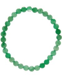 Link Up - 6mm Green Adventurin Beaded Bracelet - Lyst
