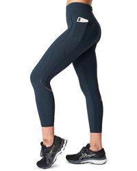 Sweaty Betty Zero Gravity Pocket 7/8 Running Leggings - Blue