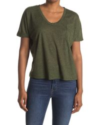 Heather by Bordeaux Speckle Pocket T-shirt - Green