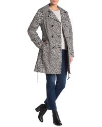 Kate Spade Leopard Double Breasted Trench Coat - Multicolour