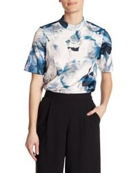 Vero Moda | Lago High Neck Printed Blouse | Lyst