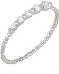 Bony Levy - 18k White Gold Diamond Beaded Stackable Ring - 0.18 Ctw - Lyst