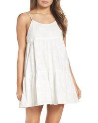 BB Dakota Kendra Paisley Embroidered Slipdress - White