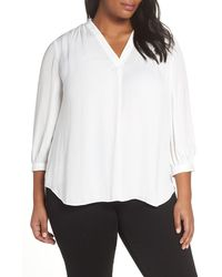 Vince Camuto Rumple Fabric Blouse - White