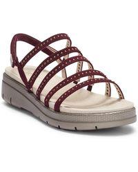 Jambu - Elegance Leather Wedge Sandal - Lyst