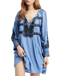 Free People - Wind Willow Embroidered Tunic - Lyst