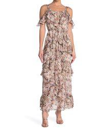 RACHEL Rachel Roy Floral Ruffle Maxi Dress - Multicolour