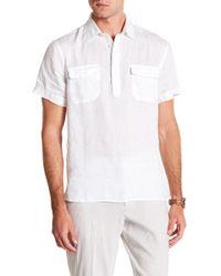 Perry Ellis - Short Sleeve Linen Popover Shirt - Lyst