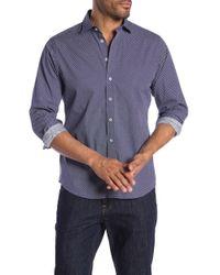 Tocco Toscano - Micro Print Long Sleeve Regular Fit Sport Shirt - Lyst