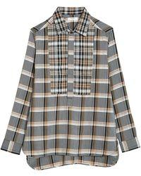 Billy Reid Paneled Popover Shirt - Multicolor
