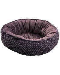 """Tahari 26"""" Mauve Velvet Round Cuddler Pet Bed - Purple"""