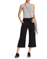 Young Fabulous & Broke Mellow Wide Leg Linen Blend Cropped Pants - Black