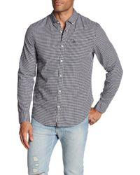 Original Penguin | Long Sleeve Mini Dot Gingam Heritage Slim Fit Shirt | Lyst