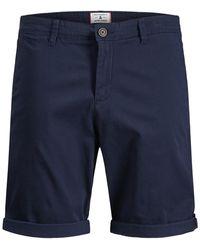 Jack & Jones Bowie Cuffed Chino Shorts - Blue