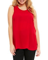 Evans Tunic Tank (plus Size) - Red