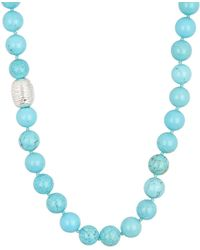 Simon Sebbag - Sterling Silver Turquoise Magnesite Bead Necklace - Lyst