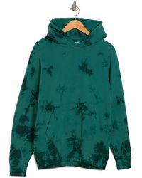 Ovadia And Sons Marbled Tie Dye Fleece Hoodie - Green