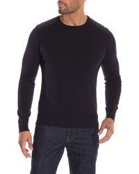 1d68d7a0445d Lyst - Belstaff Kerrigan Crewneck Jumper in Black for Men