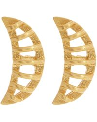 Botkier - Cage Crescent Stud Earrings - Lyst