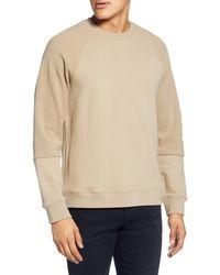 Baldwin Denim Texture Block Crewneck Sweatshirt - Natural