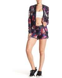 Bebe - Pinhole Mesh Shorts - Lyst