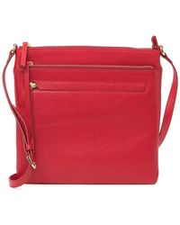 Nordstrom Finn Leather Crossbody Bag - Red