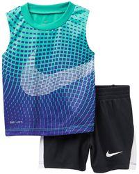 Nike - Oversize Swoosh Muscle Tee Set - 2 Piece (baby Boys) - Lyst