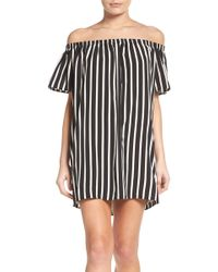 French Connection - Polly Off-the-shoulder Dress - Lyst