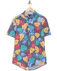 Tommy Hilfiger Clint Floral Regular Fit Shirt - Blue